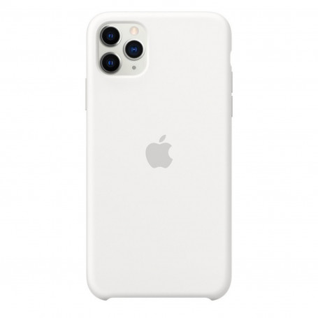 Custodia Apple Silicon Case White Iphone 11 Pro Max