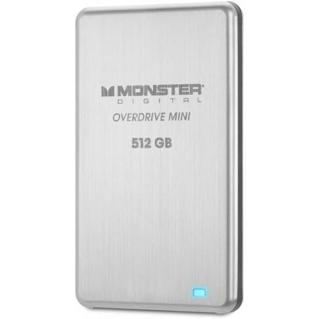 Monster Digital Overdrive Mini SSD 512GB USB 3.0 250MB/s in acciaio inossidabile