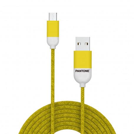 Cavo Micro-USB Pantone 1.5 mt - Giallo