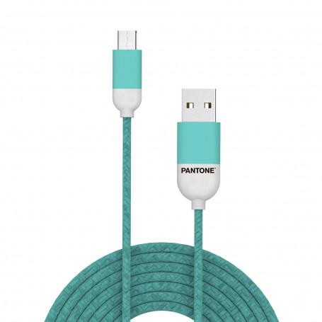 Cavo Micro-USB Pantone 1.5 mt - Ciano